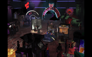 In Blade Runner (1997) in the arcade, you can see someone playing Command & Conquer Red Alert which was made by the same developer Westwood Studios: 天下 In Blade Runner (1997) in the arcade, you can see someone playing Command & Conquer Red Alert which was made by the same developer Westwood Studios