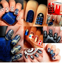 Doctor Who Inspired Nail Art <3<3: 天  闖  *TM  イ46  cc  ZOE  EXTERMINATE!  Wk-eyear  TKL  ま  00  7800> Doctor Who Inspired Nail Art <3<3