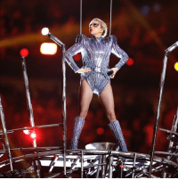 Memes, 🤖, and Aps: 廊 What did you think of @LadyGaga's performance during the halftime show of SuperBowl 51? (AP Photo-Darron Cummings)