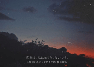 Truth,  Know, and  Want: 真実は、私は知りたくないです。  The truth is, I don't want to know.