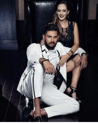 Memes, 🤖, and Yuvraj Singh: 耵, Mr. and Mrs. Yuvraj Singh during a recent photoshoot