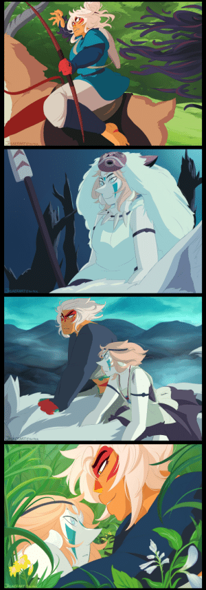 jasker:  the patreon poll this week was about studio ghibli, which has made some of my very favorite movies ever, and princess mononoke won!! ♡♡♡ i had SO much fun with these \u/: 豸  JASKERART Ctwitter   SXERARTtwieR   JAS  ERART CtwiteR jasker:  the patreon poll this week was about studio ghibli, which has made some of my very favorite movies ever, and princess mononoke won!! ♡♡♡ i had SO much fun with these \u/