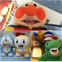 9gag, Memes, and Japan: 鉴  es u  rale Dentists in Japan remade these stuff toys to teach kids how to brush their teeth. Follow @9gag @9gagmobile 9gag dentist denture