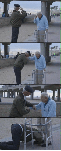 Memes, Survivor, and 🤖: 雄! Holocaust survivor salutes US soldier who liberated him from concentration camp