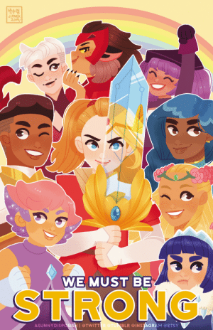 asunnydisposish: Happy International Women's Day! I'm so grateful to She-Ra for giving us nuanced and diverse female characters and I can't wait for the next season~  You can find this as a print at ECCC - I'll be at table T7. It's available in my Etsy store for pre-order as well if you don't attend conventions! : |박수령  J.PARK  2.019  WE MUST BE  STRONG  ASUNNYDISPasisH I@TWITTER @TUNBLR @INSTAGRAM @ETSY asunnydisposish: Happy International Women's Day! I'm so grateful to She-Ra for giving us nuanced and diverse female characters and I can't wait for the next season~  You can find this as a print at ECCC - I'll be at table T7. It's available in my Etsy store for pre-order as well if you don't attend conventions!
