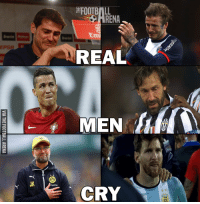⚽❤️😢: 붙FOOTBALL  REAL  MEN  CRY  REA  LN A  ㄚ  VIA THE FOOTBALL ARENA ⚽❤️😢