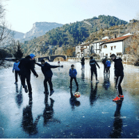 Kids play ⚽️on an ice-covered section of the Esca river in the town of Burgui, in Northern Spain 🇪🇸 last month. 12 provinces were under yellow-level weather alert due to freezing temperatures. But who lets cold weather get in the way?! The image features in the new FIFA magazine, out today. FirstLove football futbol beautifulgame iceicebaby spain españa: 브  Elmi  T Kids play ⚽️on an ice-covered section of the Esca river in the town of Burgui, in Northern Spain 🇪🇸 last month. 12 provinces were under yellow-level weather alert due to freezing temperatures. But who lets cold weather get in the way?! The image features in the new FIFA magazine, out today. FirstLove football futbol beautifulgame iceicebaby spain españa