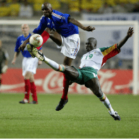 Memes, 🤖, and Reign: 팩 Happy 39th birthday to Papa Bouba Diop! The defensive midfielder scored the first goal of the 2002 FIFA World Cupagainst France, which resulted in the 1–0 defeat of the then reigning World champions and ultimately, their early elimination from the tournament, in which Senegal reached the quarter-finals. Bouba Diop ended as his team's best scorer of the tournament with three goals, HappyBirthday BoubaDiop Senegal WorldCup TheWardrobe FSF LionsOfTeranga @footballsenegal