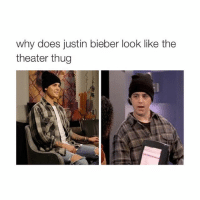 why does justin bieber look like the  theater thug drake & josh