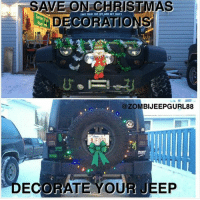christmas jeep and decoration save on christmas decorations zombijeepgurl88 jfo decorate your jeep - Jeep Christmas Decorations