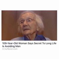 ⠀: 109-Year-old Woman Says Secret To Long Life  Is Avoiding Men  m.huffpost.com ⠀