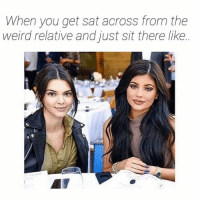 Please tell me more about your divorce aunt Carol (@bigkidproblems): When you get sat across from the  weird relative and just sit there like. Please tell me more about your divorce aunt Carol (@bigkidproblems)