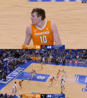 👀 @Vol_Hoops spoiled No. 6 Kentucky's last home game of the season   See how it all went down ⤵️ https://t.co/jRFPsORWpR: 👀 @Vol_Hoops spoiled No. 6 Kentucky's last home game of the season   See how it all went down ⤵️ https://t.co/jRFPsORWpR