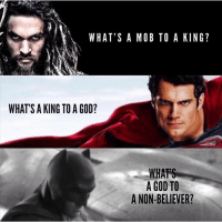 God, Movies, and Game: WHAT'S A MOB TO A KING?  WHAT'S A KING TO A GOD?  WHATS  A GOD TO  A NON-BELIEVER? Please follow the guys at @comiczeroes for the latest headlines in the Comics, TV, Movies and Gaming world.