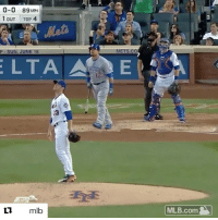 Mlb, Sports, and Mets: 0-0 89  MPH  1 OUT  TOP  4.  METS CO  P. SUN, JUNE 18  LTA  A E  mlb  MLB.com Oh my 😱 Kyle Schwarber DESTROYS this Matt Harvey pitch (via @mlb)