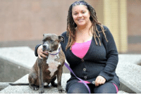 """Memes, Heart, and Hearts: 0 0 A innocent Staffie that was tied to a tree and beaten """"to toughen him up"""" by his previous owners has now become a TV and Film Star thanks to new owner Toni. Read their heart-warming story -  http://bit.ly/111pZMr and join their FanPage """"Brindle and Sanka dog tricks page"""" http://on.fb.me/1tR5usM  Please """"SHARE"""" guys【ツ】!!! #Staffies"""