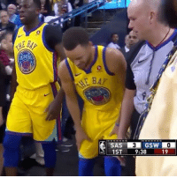 """"""" StephCurry appears to injure his right ankle on this layup and limps off."""" 😧🙏 @houseofhighlights WSHH: 0  0  GSW  1ST 9:38  19 """" StephCurry appears to injure his right ankle on this layup and limps off."""" 😧🙏 @houseofhighlights WSHH"""