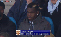 Memes, Hairstyles, and 🤖: 0-0 MU 01:46  Paul Pogba  250 Hairstyles In 288 Appearances