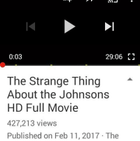 Memes, 🤖, and Lemme: 0:03  29:06  The Strange Thing  About the Johnsons  HD Full Movie  427,213 views  Published on Feb 11, 2017 The Before I watch this lemme go pray cuz I heard there's molestation and rape😓😓😓😓