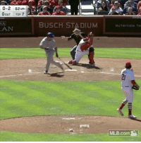 Memes, Mlb, and Wshh: 0-2 82 MPH  0OUT Top 7  NA  BUSCH STADIUM  NUTRITION TH  MLB.com Can't say we've seen this before...⚾️😳😂 @MLB ChicagoCubs vs StLouisCardinals WSHH