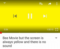 Bee Movie Memes: 0:26  1:32:12  Bee Movie but the screen is  always yellow and there is no  sound Bee Movie Memes