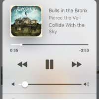 anyone else love this song?? ~ali: 0:35  Bulls in the Bronx  Pierce the Veil  Collide With the  3:53 anyone else love this song?? ~ali