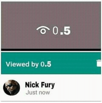 Memes, Nick, and 🤖: 0.5  Viewed by 0.5  Nick Fury  Just now