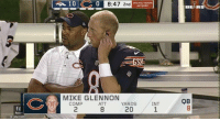 "Bears front office: ""He can't possibly be worse than Cutler.""  Glennon: ""Hold my beer"" https://t.co/ETDPbFKlA9: 0  8:47 2nd  CHICAGO BEARS  BEARS  MIKE GLENNON  QB  COMP  2  ATT  8  YARDS  20  INT  1  (0  Q MarcusD2 Bears front office: ""He can't possibly be worse than Cutler.""  Glennon: ""Hold my beer"" https://t.co/ETDPbFKlA9"