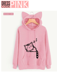 "<p><a href=""http://lifepro-tips.tumblr.com/post/169890199677/cat-hoodie-pink-sweatshirt-front-pocket"" class=""tumblr_blog"">lifepro-tips</a>:</p><blockquote><p><b><a href=""https://goo.gl/bufp8h""> Cat Hoodie Pink Sweatshirt Front Pocket  </a></b><br/></p></blockquote>: 0  DRESS  EPINK  CODE  ON SALE! -50%  2 <p><a href=""http://lifepro-tips.tumblr.com/post/169890199677/cat-hoodie-pink-sweatshirt-front-pocket"" class=""tumblr_blog"">lifepro-tips</a>:</p><blockquote><p><b><a href=""https://goo.gl/bufp8h""> Cat Hoodie Pink Sweatshirt Front Pocket  </a></b><br/></p></blockquote>"