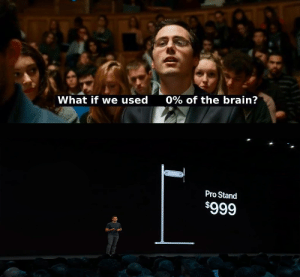 Brain, Pro, and What: 0% of the brain?  What if we used  Pro Stand  $999