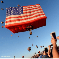 Memes, American, and American Flag: 0  Sipa via AP Images An American flag hot air balloon and other hot air balloons took flight at a balloon festival in New Jersey over the weekend.