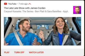 For a moment there i actually thought Pewdiepie was doing a Carpool Karaoke: 0  The Late Late Show with James Corden  Carpool Karaoke: The Series - Ben Platt & Sara Bareilles - Appl..  YouTube 7 min ago A  PLAY TURN OFF WATCH LATER For a moment there i actually thought Pewdiepie was doing a Carpool Karaoke