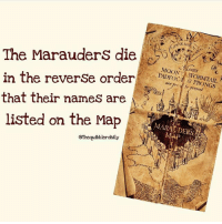 Facts, Gryffindor, and Hermione: 0%  The MarauderS die  in the reverSe order  that their names are  listed on the Map  The Marauders dieE  MOON  8 PRONGS  fo present  @thequibblerdaily Did you realize this? Comment 😏 if you did and 😮 if you didn't . . . . . . . __________________________________________________ __________________________________________________ harrypotter potterhead wizardingworld wizardingworldofharrypotter gryffindor hufflepuff slytherin ravenclaw hogwarts hogwartsismyhome bookstagram hermione sharethemagic hermione bookworm ronweasley voldemort harrypotterfacts hpfacts snape dracomalfoy fangirl hp facts fandom emmawatson fantasticbeasts fbawtft