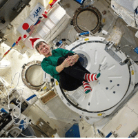 Today, astronauts on the International Space Station will celebrate the day in many of the same ways that people on Earth celebrate the holiday — relaxing, talking to friends and family, and sharing a special meal. But they do it all while weightlessly floating inside a laboratory that's whizzing around the Earth at 17,500 mph (28,000 kilometers-hour). Astronauts at the space station even have gifts from home to open this morning. The gifts were sent to space earlier this month inside a Japanese cargo supply ship. Because the spacecraft goes around the Earth every 92 minutes, its occupants will see about 15 sunrises throughout the day. That's 15 Christmas mornings in less than 24 hours! Photo: Peggy Whitson (pictured above) Source: Space.com: 0 Today, astronauts on the International Space Station will celebrate the day in many of the same ways that people on Earth celebrate the holiday — relaxing, talking to friends and family, and sharing a special meal. But they do it all while weightlessly floating inside a laboratory that's whizzing around the Earth at 17,500 mph (28,000 kilometers-hour). Astronauts at the space station even have gifts from home to open this morning. The gifts were sent to space earlier this month inside a Japanese cargo supply ship. Because the spacecraft goes around the Earth every 92 minutes, its occupants will see about 15 sunrises throughout the day. That's 15 Christmas mornings in less than 24 hours! Photo: Peggy Whitson (pictured above) Source: Space.com