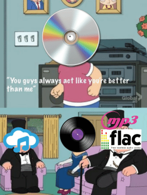 Free, Audio, and Act: 0  You guys always act like youre better  han me  Global  IT  flac  IIII free lossless audio codec  주 Toons