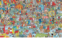 I'm my free time, I find waldo.: 00 I'm my free time, I find waldo.