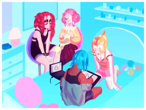 spinearl:  yes i hate the bg with my fucking life, but here's the double date suggestion 😔💕 this is part of  Homeworld Inc., a human AU where the gems work for this big company owned by the diamonds and hijinks ensuePhoebe, Nelle, Canary and Jay (respectively Pink Pearl, Spinel, Yellow Pearl and Blue Pearl) are great friends and tease each other a lot while being gayjust a bunch of clowns, really: 00 JO spinearl:  yes i hate the bg with my fucking life, but here's the double date suggestion 😔💕 this is part of  Homeworld Inc., a human AU where the gems work for this big company owned by the diamonds and hijinks ensuePhoebe, Nelle, Canary and Jay (respectively Pink Pearl, Spinel, Yellow Pearl and Blue Pearl) are great friends and tease each other a lot while being gayjust a bunch of clowns, really