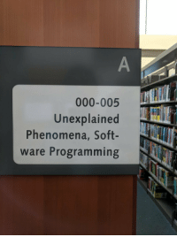 Library: 000-005  Unexplained  Phenomena, Soft-  ware Programming Library