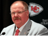 """Andy Reid Looks like the guy who waggles his fingers in front of a tray of doughnuts and says, """"Don't mind if I do"""": 000 Andy Reid Looks like the guy who waggles his fingers in front of a tray of doughnuts and says, """"Don't mind if I do"""""""