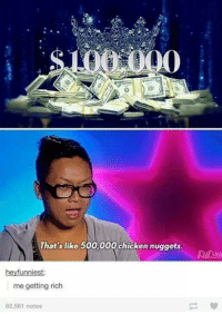 Rap, Best, and Chicken: 000  That's like 500,000 chicken nuggets.  hey funniest:  me getting rich  62,561 notes Go like Best Rap Lyrics and Worst Rap Lyrics