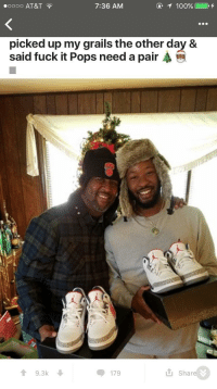 "Dad, Sneakers, and At&t: 0000 AT&T  7:36 AM  picked up my grails the other day &  said fuck it Pops need a pair  9.3k  I Shar <p>An awesome son with a very cool dad posing in a wholesome picture from r/sneakers via /r/wholesomememes <a href=""http://ift.tt/2u37r0P"">http://ift.tt/2u37r0P</a></p>"