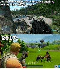 Anaconda, Funny, and Video Games: 007:I cant wait to see what  will looklik  game graphics  game  graphics  e after 10  years  20176  RZE  23 20 ill  0 100  18 100 Just one example, but still funny. https://t.co/H3N4NroGgR