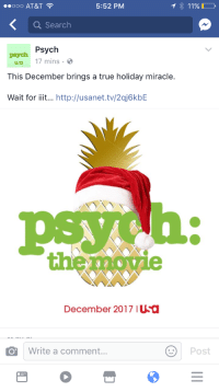 True, At&t, and Http: 00O AT&T  5:52 PM  Q Search  peych Psych  0 17 mins-  This December brings a true holiday miracle.  Wait for iiit... http://usanet.tv/2qj6kbE  h:  the  roe  December 2017 IUSa  Write a comment...  Post <p>AHHHHHHHHHHHHHHHHHHHHHHHHHHHHHHHHHHHHHHHHHHHHHHHHHHHHHHHHHHHHHHHHHHHHHHHHHHHHHHHHHHHHHHHHH!!!!!!!!!!!!!!!!!!!!!!!!!!!!!!!!!!!!!!!!!!!!!!!!!!!!!!!!!!!!!!!!!!!!!!!!!!!</p>