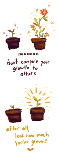How, All, and Mach: 00oo  dont compale your  growth to  others   after all  look how mach  You've grown!  0