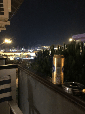 Being Alone, Drinking, and Hotel: 00R  S  3 drinking alone in hotel room looking throıgh çeşme castle