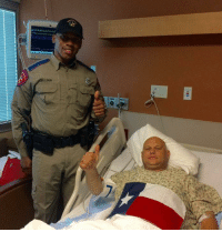 "Please continue to pray for this Troopers full recovery. Trooper Dan Shaw and his partner Trooper Brandon Zellous give a ""Thumbs up""!   Trooper Shaw is expected to make a full recovery. He was shot while on assignment at the Texas-Mexico border on Friday.: 01  ELLOUS Please continue to pray for this Troopers full recovery. Trooper Dan Shaw and his partner Trooper Brandon Zellous give a ""Thumbs up""!   Trooper Shaw is expected to make a full recovery. He was shot while on assignment at the Texas-Mexico border on Friday."
