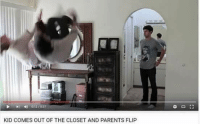 Parents, Kid, and Flip: 012/  KID COMES OUT OF THE CLOSET AND PARENTS FLIP