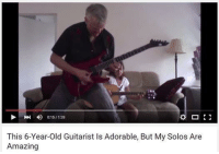 015/128  This 6-Year-old Guitarist Is Adorable, But My Solos Are  Amazing