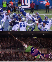 Not sure if Saquon Barkley or Jordan from Space Jam... https://t.co/a1vkco20WV: 019FM  E W  54 Not sure if Saquon Barkley or Jordan from Space Jam... https://t.co/a1vkco20WV