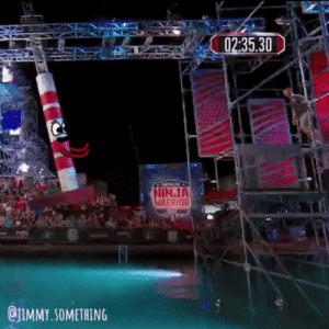 Ninja, Warrior, and Ninja Warrior: 02:35.30  Pe  INJA  BRIDR  QJIMMY.SOMETHING Ninja Warriors First Jump